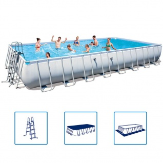 Bestway Power Steel Swimmingpool-Set Stahlrahmen 956×488×132cm 56623