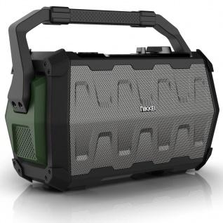 Nikkei Lautsprecher mit Mikrofon SPEAKERBOXX100 2×5 W Grau und Grün