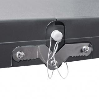 Klappbares Campingtisch-Set Aluminium mit 4 Stühlen extra leicht grau - Vorschau 4
