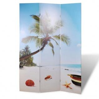 Foto-Paravent Paravent Raumteiler Strand 120 x 180 cm - Vorschau 1