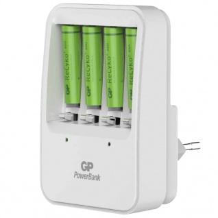 GP Akku-Ladegerät PB420 mit 4 Batterien 130420GS85AAAHCC4