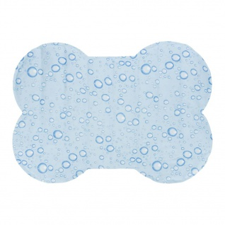 TRIXIE Selbstkühlende Hundematte Knochenform L 80x60 cm Hellblau