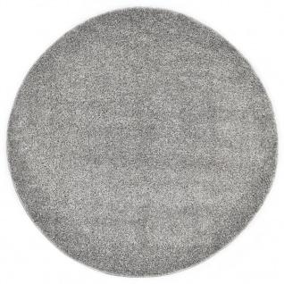 vidaXL Hochflor-Teppich 120 cm Grau