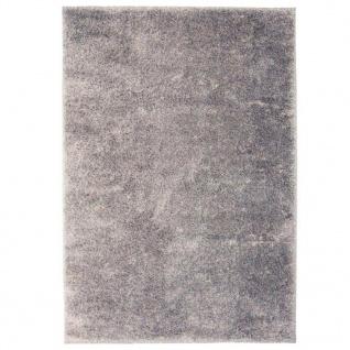 vidaXL Shaggy-Teppich 120 x 170 cm Grau