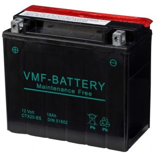 VMF Powersport Liquifix Batterie 12 V 18 Ah MF CTX20-BS