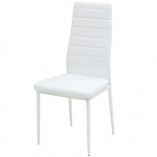 vidaXL 5-tlg. Essgarnitur Esstisch mit Stühlen - Vorschau 4