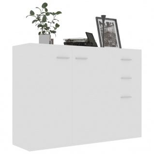 vidaXL Sideboard Hochglanz-Weiß 105 x 30 x 75 cm Spanplatte - Vorschau 3