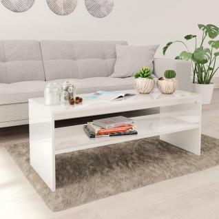 vidaXL Couchtisch Hochglanz-Weiß 100×40×40 cm Spanplatte