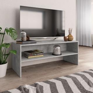 vidaXL TV-Schrank Betongrau 100 x 40 x 40 cm Spanplatte