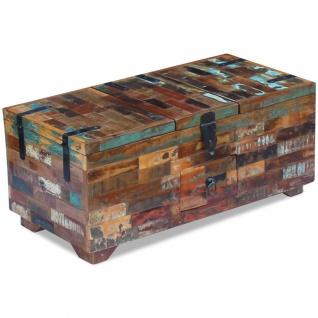vidaXL Couchtisch Truhe recyceltes Massivholz 80x40x35 cm - Vorschau 4