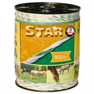 Kerbl elektrisches Weidezaunseil Star 400 m Weis und Grün 44528