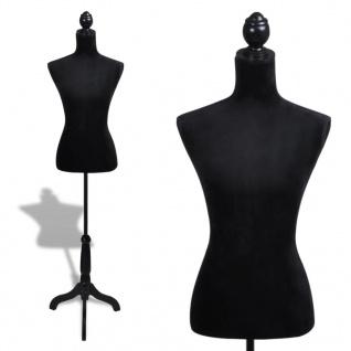 Damenbüste Schneiderpuppe Büste Torso Angezogen Mannequin schwarz