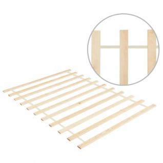 vidaXL Lattenrost Rollbar mit 11 Latten 100×200 cm Kiefer Massivholz