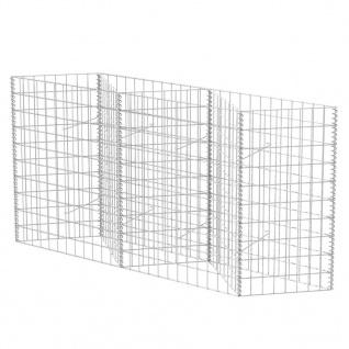 vidaXL Gabionenkorb Pflanzkasten Gemüse-Hochbeet Stahl 120×30×100 cm - Vorschau 2