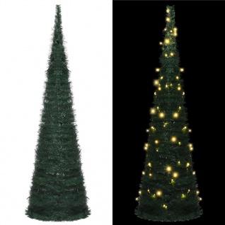 vidaXL Künstlicher Pop-Up-Weihnachtsbaum mit LED Grün 150 cm