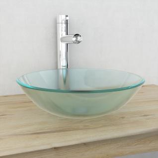 vidaXL Waschbecken Hartglas 42 cm Mattiert