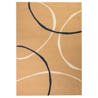 vidaXL Teppich Modern Kreise 120 x 170 cm Braun