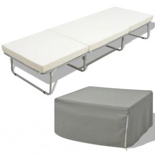 vidaXL Klappbett/-Sofa mit Matratze 200x70 Stahl
