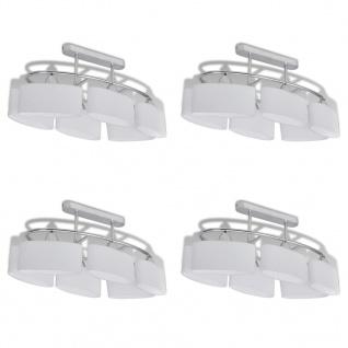 vidaXL Deckenlampe mit ellipsenförmigen Glasschirmen 4 Stk. E14 - Vorschau 2