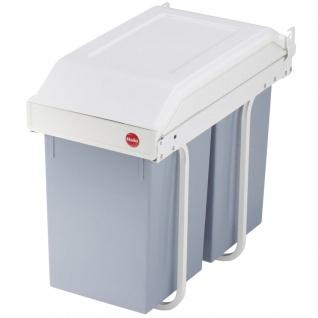 Hailo Schrank-Mülleimer Multi-Box Duo 2×14 L Cremeweiß Größe L 3659-001