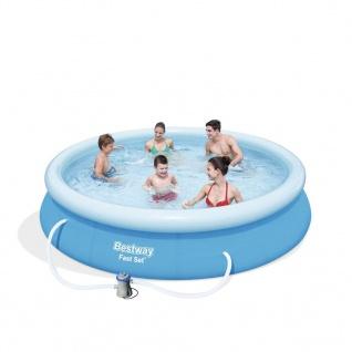 Bestway Pool-Set Marin Fast Rund Grau 366cm 57274