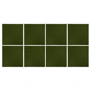 vidaXL Kunstrasen-Fliesen 8 Stk. 50x50x2, 5 cm Gummi