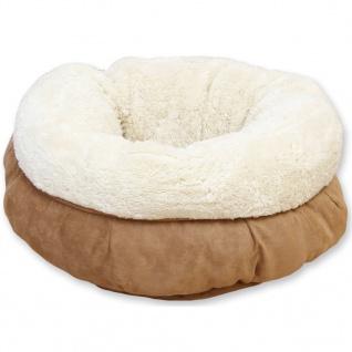 afp Katzen-/Hundebett Lammwolle Donut-Design Braun