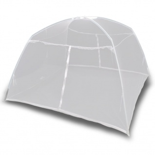 vidaXL Campingzelt 200×150×145 cm Fiberglas Weiß