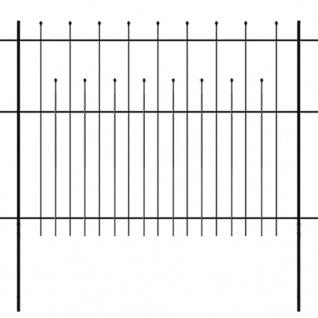 vidaXL Dekorativer Sicherheits-Palisadenzaun Stahl 600×150 cm