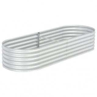vidaXL Garten-Hochbeet 240x80x44 cm Verzinkter Stahl Silbern