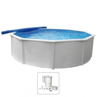 KWAD Schwimmbad Steely Deluxe Rund 3, 6 x 1, 2 m