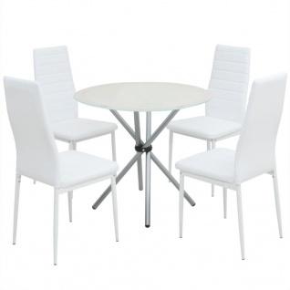 vidaXL 5-tlg. Essgarnitur Esstisch mit Stühlen - Vorschau 1