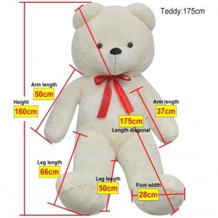 XXL Weicher Plüsch-Teddybär Weiß 175 cm - Vorschau 5