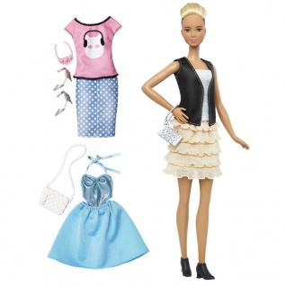 Barbie Fashionistas Puppe und Moden mit Rüschenrock DTF07