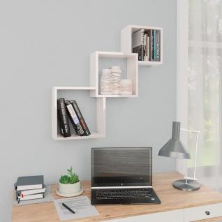 vidaXL Cube Wandregale Hochglanz-Weiß 84, 5ß15ß27 cm Spanplatte