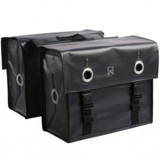 Willex Fahrrad-Doppeltasche 52 L Matt-Schwarz 10940