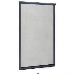 vidaXL Insektenschutzrollo für Fenster Anthrazit 100x170 cm