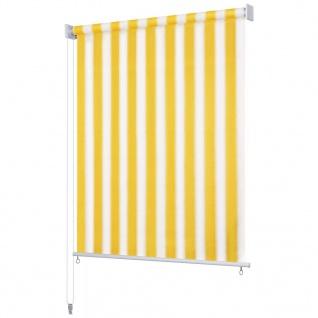 vidaXL Außenrollo 140 x 140 cm Gelb und Weiß Gestreift