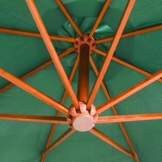 vidaXL Sonnenschirm Ampelschirm 350 cm Holzmast Grün - Vorschau 2