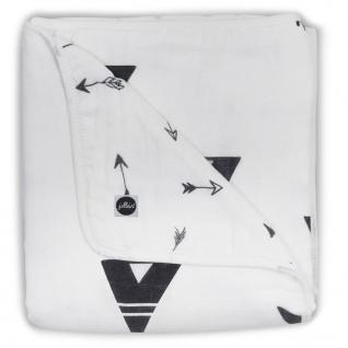 Jollein Babydecke Musselin 75x100 cm Schwarz-Weiß 521-511-65081