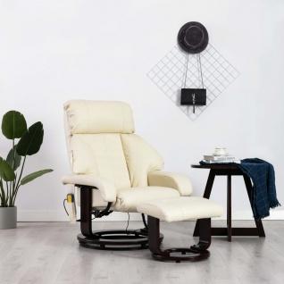vidaXL TV-Massagesessel Cremeweiß Kunstleder