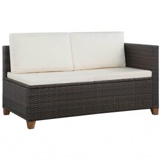 vidaXL 4-tlg. Garten-Lounge-Set mit Auflagen Poly Rattan Braun - Vorschau 3