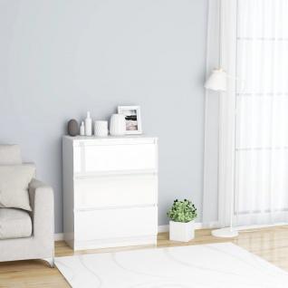 vidaXL Sideboard Hochglanz-Weiß 60×35×76 cm Spanplatte
