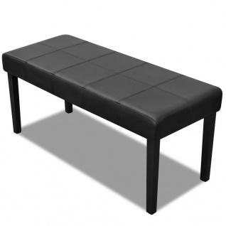 Sitzbank aus hochwertigem Kunstleder schwarz