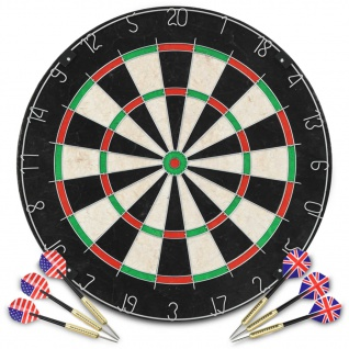vidaXL Professionelles Dartboard Sisal mit 6 Darts