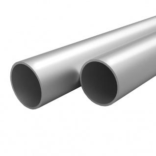 vidaXL 4 Stück Aluminiumrohre Rund 1m Ø20x2mm