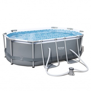 Bestway Pool-Set Levant Oval Grau 300x200x84 cm 56617