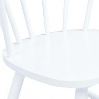 vidaXL Esszimmerstühle 2 Stk. Weiß Gummiholz Massiv - Vorschau 5