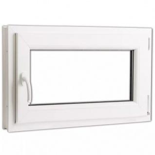 Dreifach Verglast PVC Drehkippfenster+Griff (linke Seite) 800x500mm