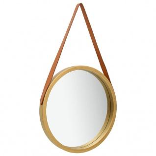 vidaXL Wandspiegel mit Riemen 40 cm Golden